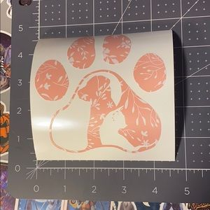 8/$15 Floral Paw Print Vinyl Decal